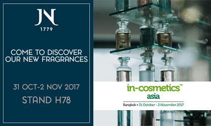 Nous serons heureux de vous retrouver au salon «in-cosmetics' Asia à Bangkok du 31 octobre au 2 novembre 2017.