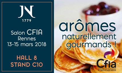 Envie de douceurs naturelles et gourmandes. En mars, faites une pause aromatique à Rennes ! Venez nous rencontrer au CFIA – Hall 8 stand C10
