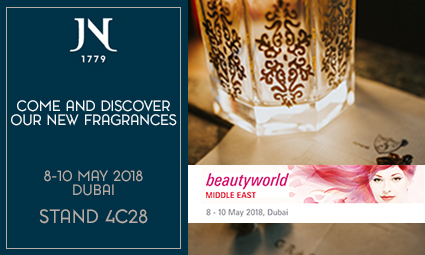 "Jean Niel will be present at the""beautyworld Middle East"" tradeshow at Dubai May 8-10, 2018"