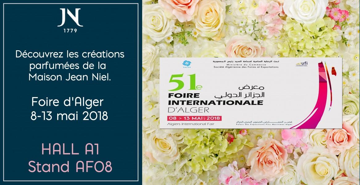 Venez nous retrouver ! Foire d'Alger, Palais des Expositions du 8 au 13 mai 2018