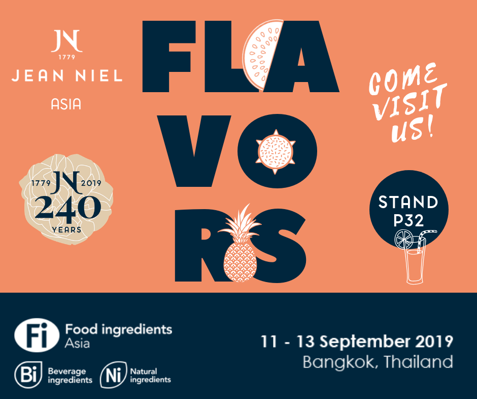 JEAN NIEL exhibits at Food Ingredients Asia – September 11-13, 2019